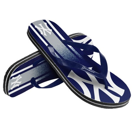 Image of Unisex Gradient Big Logo Flip Flop For MLB New York Yankees X-Small