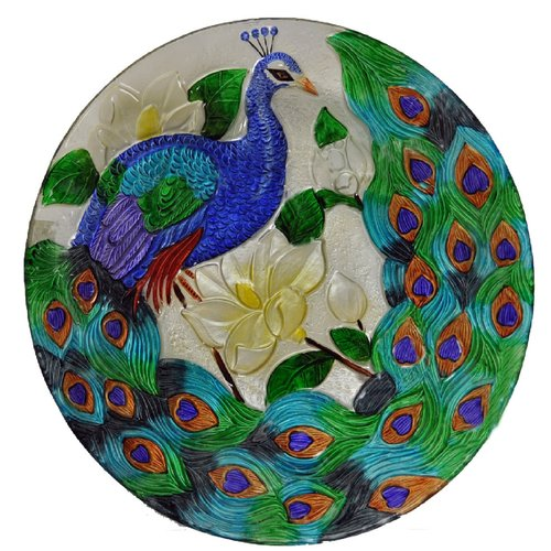 Continental Art Center Peacock Decorative Plate