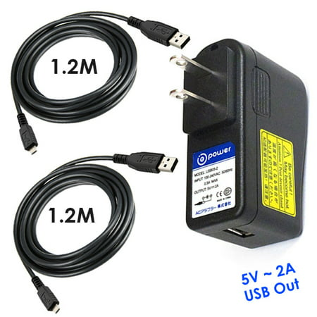 T-Power Ac Adapter for Crosley CR5503A-BK Pictograph Standalone Film Scanner Charger Power