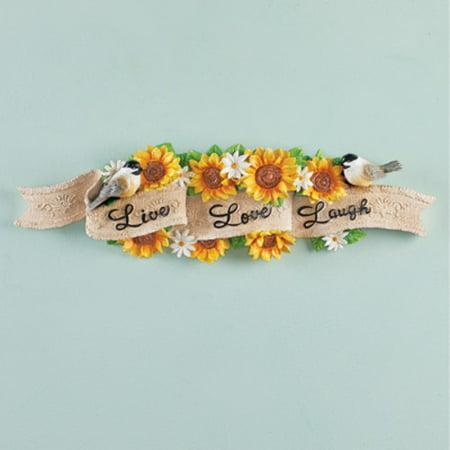 Sunflower Live Love Laugh Wall Decor ()