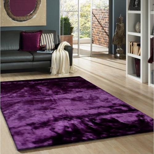Rug Addiction Purple Faux Fur Sheep Skin Shag Area Rug 5