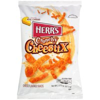 Herr???s Crunchy Cheestix Cheese Flavored Snacks, 2.375 oz