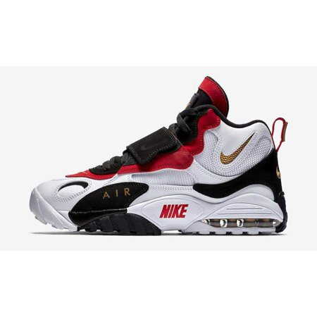 new product 06b82 e0cc7 Nike - Mens Nike Air Max Speed Turf 49ers White Metallic Gold Black Gym Red  5 - Walmart.com