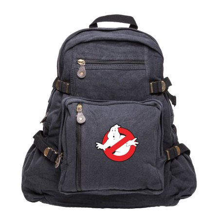 Ghostbusters Logo Army Sport Heavyweight Canvas Backpack - Ghostbuster Backpack