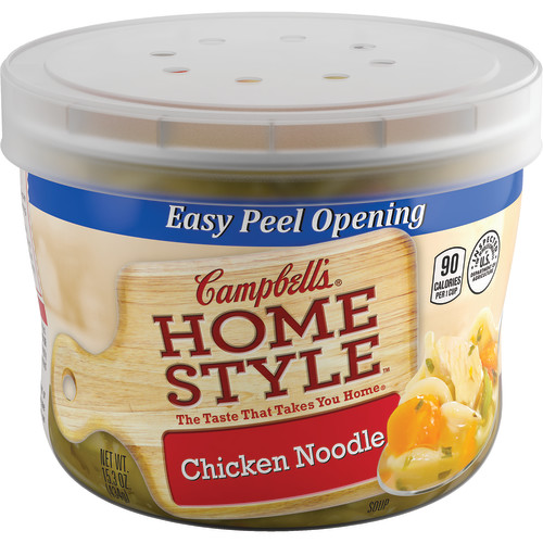 Campbell's Homestyle Chicken Noodle Soup Microwavable Bowl, 15.3 oz.