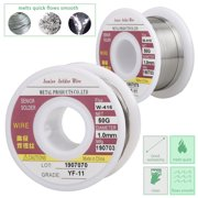 EEEKit Solder Wire Tin/Lead Sn60Pb40 with Flux Rosin Core for Electrical Soldering 1.0mm/0.039 inch Diameter, Tin Wire Solder for Electrical Soldering