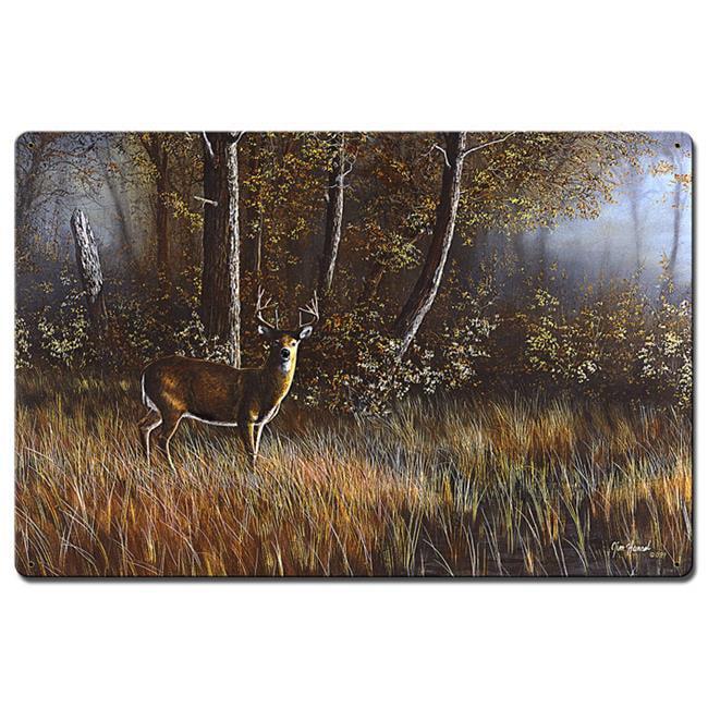 24 x 36 in. Morning Whitetail Deer Satin Metal Sign - image 1 de 1