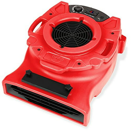 b-air ventlo-25 1/4 hp low profile air mover carpet dryer floor fan for home retail plumbing water damage restoration
