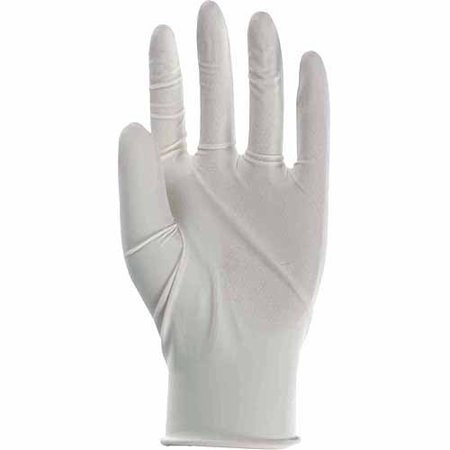 Boss Gloves 1UL0004M Medium White Disposable 3MIL Powdered Latex Gloves 100 Count