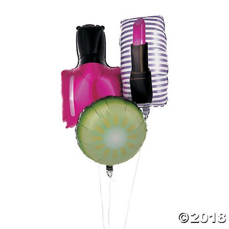 Spa Party Mylar Foil Balloons](Girls Spa Party)