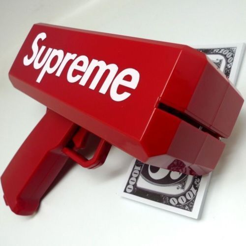 Supreme Money Gun Cannon W/ 100 Bills In Gift Box Novelty Party