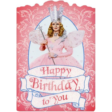 Paper House Productions Die Cuts - Paper House Productions Glinda Sparkling Pink Die Cut Glitter Wizard of Oz Birthday Card For Her / Girls