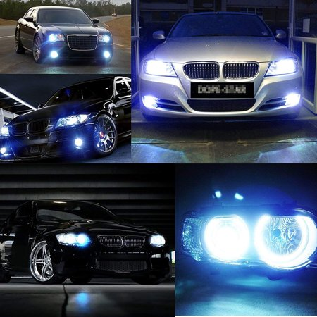 1Pair 80W LED Ice Blue Super Bright H7 8000K 2828 LED Bulb Compatible for Low Beam Headlight DRL - image 3 of 7