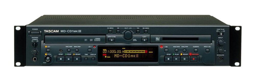 Tascam MD-CD1MKIII Combination CD Player and MiniDisc Recorder by TASCAM