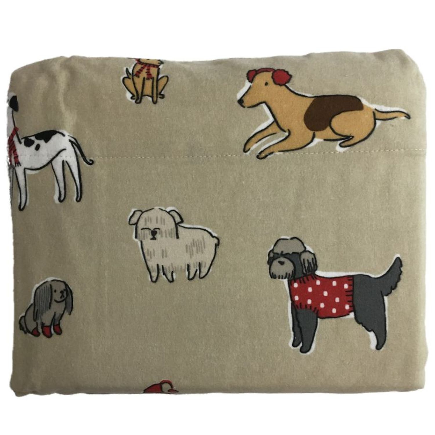 TWIN SIZE SOFT FLANNEL SHEET SET 4PC BY MIDDLETON HOME PUPPY DOGS NEW WITH TAG