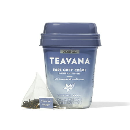 Teavana Earl Grey Creme Flavored Black Tea Blend, Tea Bags, 15 Ct