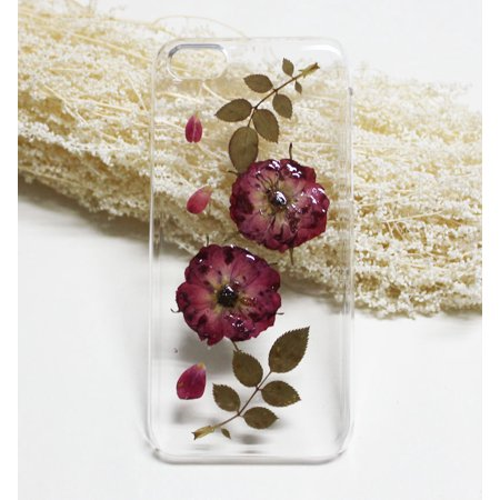 Popeven Red Pressed Flower Iphone 7 Case Clear Plus RubberReal Dried 6 6s Birthday Gift For Her