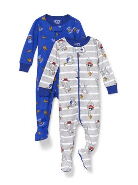 The Children's Place Long Sleeve Stretchie Pajamas, 2Pk (Toddler Boys, 2T, 3T, 4T, 5T)