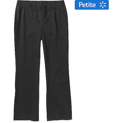 George Women's Plus-Size Petite Pull-On Bootcut Stretch Ponte Pants