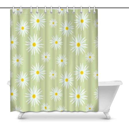 POP Summer Garden Camomile Art Shower Curtain Set 60x72 inch - image 1 of 1