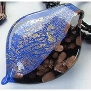 KA-3961 Wave Blues Precious Gemstone Necklace Pendant, - 18 to 21 inch