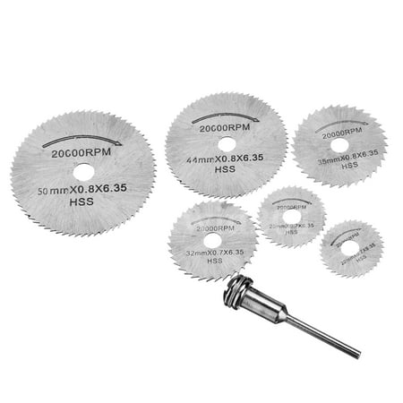 6Pcs/Set Machine Accessories Mini Hss Steel Circular Saw Blade Rotary Tool for Dremel Metal Cutter Power Tool Set Wood Cutting Discs Drill
