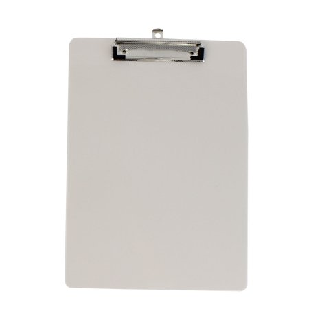 Office School Plastic A4 Paper File Note Writing Holder Clamp Clip Board Khaki](Santa Beards For Sale)