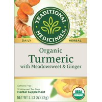 Traditional Medicinals, Organic Tumeric With Meadowsweet & Ginger Herabl Tea, Tea Bags, 16 Ct
