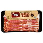 Great Value Original Bacon, 12 oz
