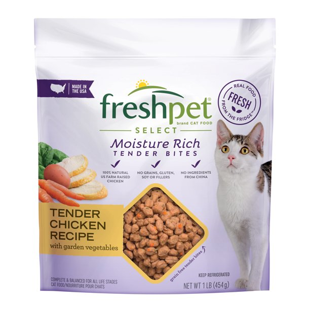 Freshpet Healthy & Natural Cat Food, Roll, Chicken Recipe, 1lb