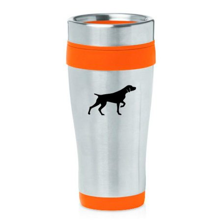 16oz Insulated Stainless Steel Travel Mug German Shorthaired Pointer (Orange)
