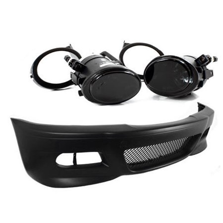 99-06 BMW E46 3-Series M3 Style Front Bumper W/ Smoke Fog Lights + Covers ()