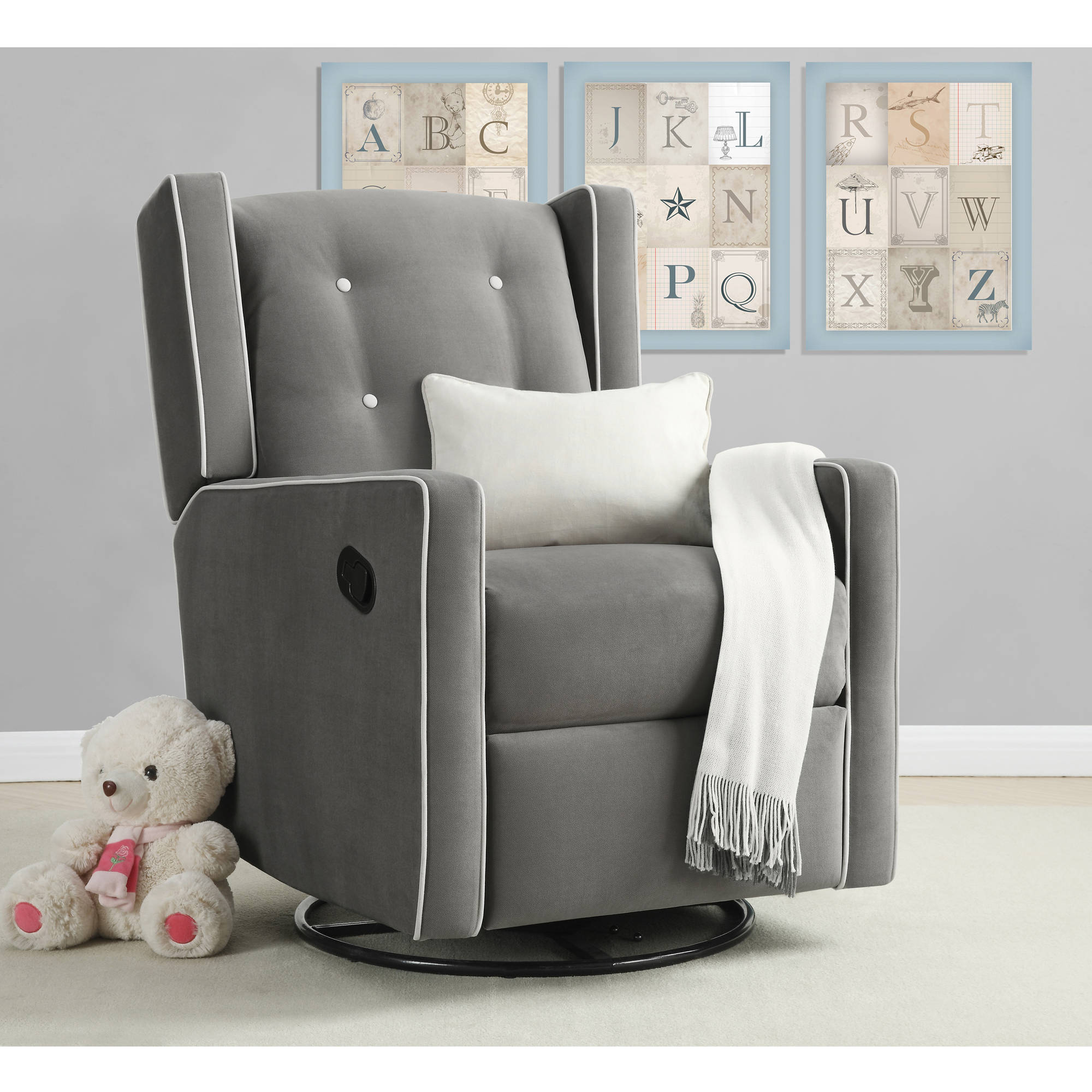 Baby Relax Mikayla Swivel Gliding Recliner, (Choose Your Color)