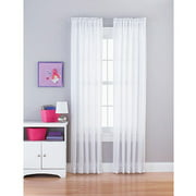 Your Zone Rod Pocket Sequin Stripe Single Curtain Panel, 84-inches in L
