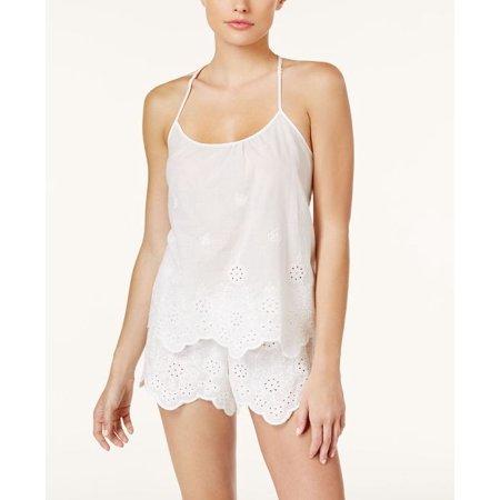 f4e679459ab Linea Donatella-Festival Embroidered Cotton Cami & Shorts Pajama  Set-Regular-S-Off White
