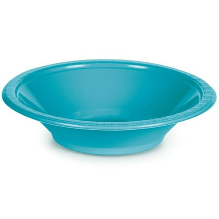 Touch of Color Plastic Bowl, 12 Oz, Bermuda Blue, 20 Ct