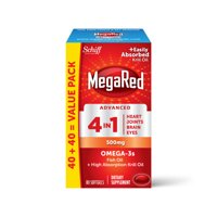 Megared Omega-3 Fish + Krill Oil Advanced 4 in 1 Softgels, 500 mg, 80 ct