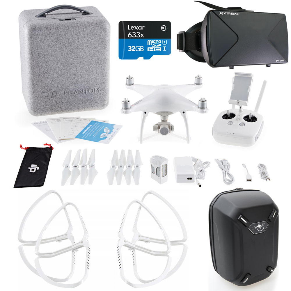 DJI Phantom 4 Quadcopter Drone FPV Virtual Reality Experience w/ Hardshell Backpack includes