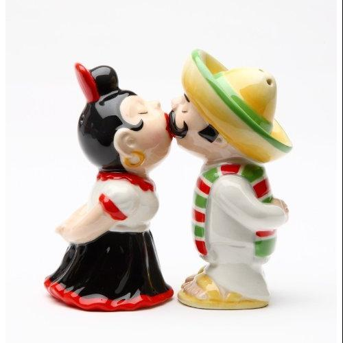 LatinosMagnetic Ceremic Salt and Pepper Shakers by Pacific Trading Company