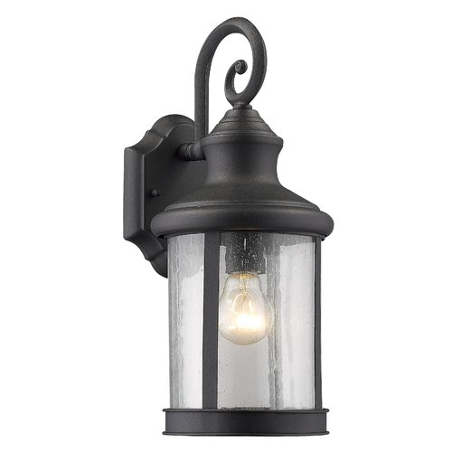 "CHLOE Lighting GALAHAD Transitional 1 Light Black Outdoor Wall Sconce 12"" Height"