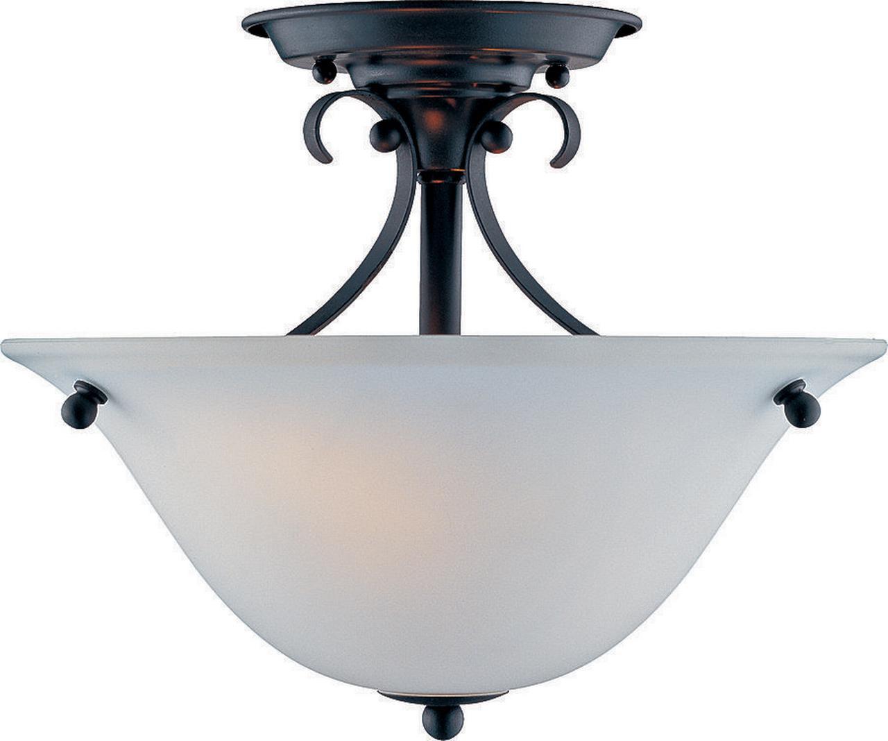Boston Harbor 7208713 Dimmable Ceiling Light Fixture, (2) 60 13 W Medium A19 CFL Lamp, Matte Black by Mintcraft