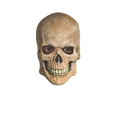 Skeleton Masks For Halloween (Crypt Skull Horror Skeleton OVerhead Latex Mask Halloween Costume)