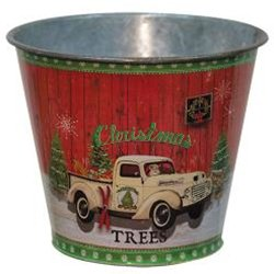 CWI Gifts Christmas Trees Truck - Christmas Buckets