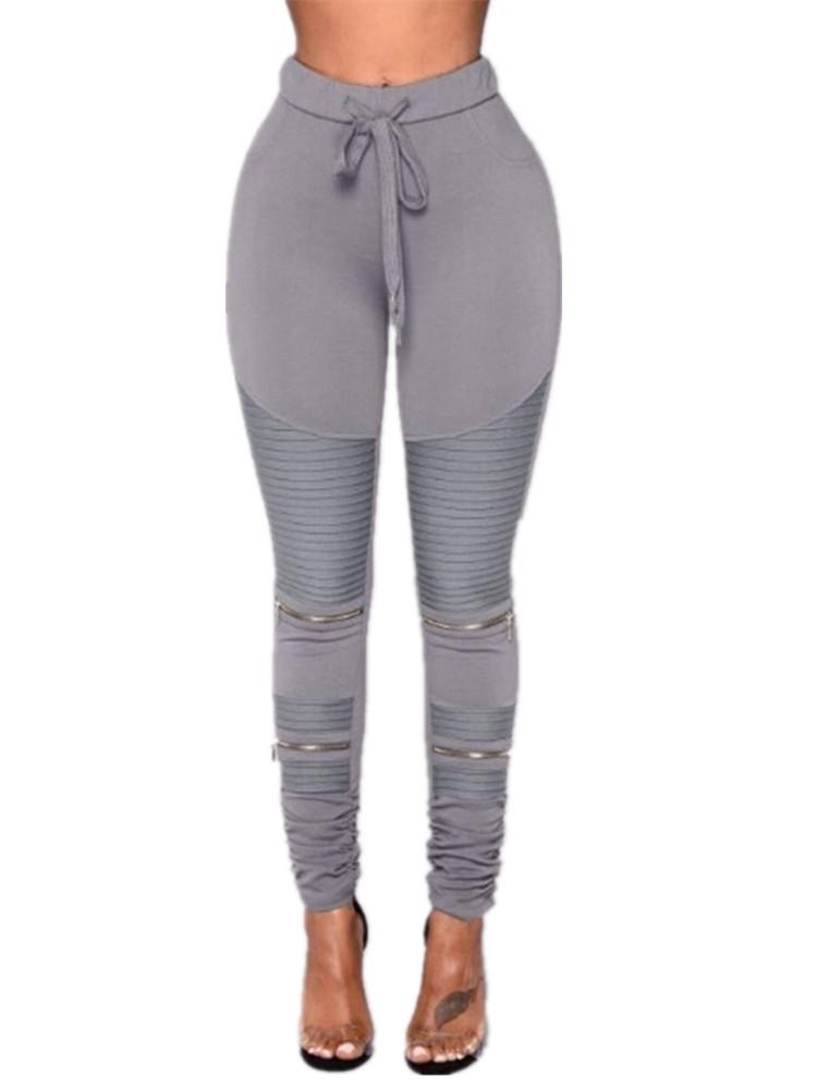 01479eb2faaa4 SySea - Elastic Waist Women Slim Fit Skinny Pencil Pants Leggings -  Walmart.com