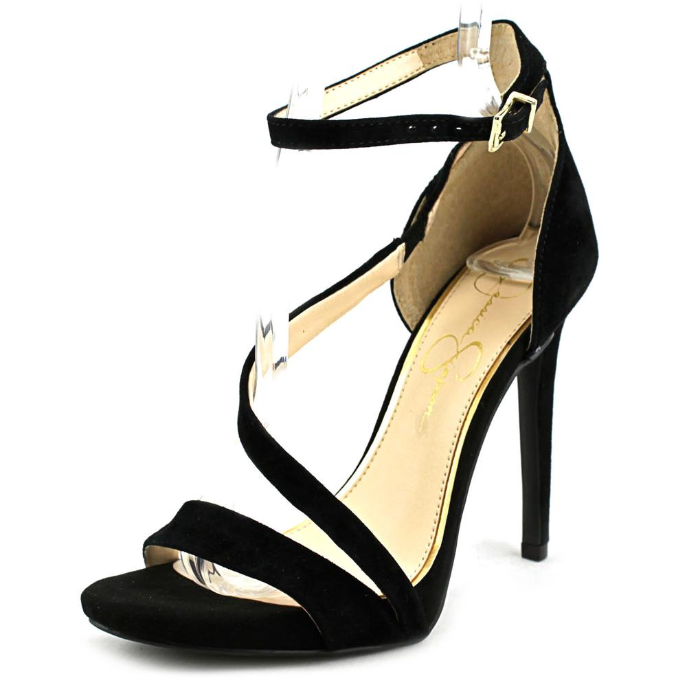 Jessica Simpson Rayli Women  Open Toe Suede Black Sandals