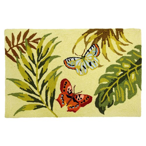 Homefires Bamboo Butterfly Area Rug