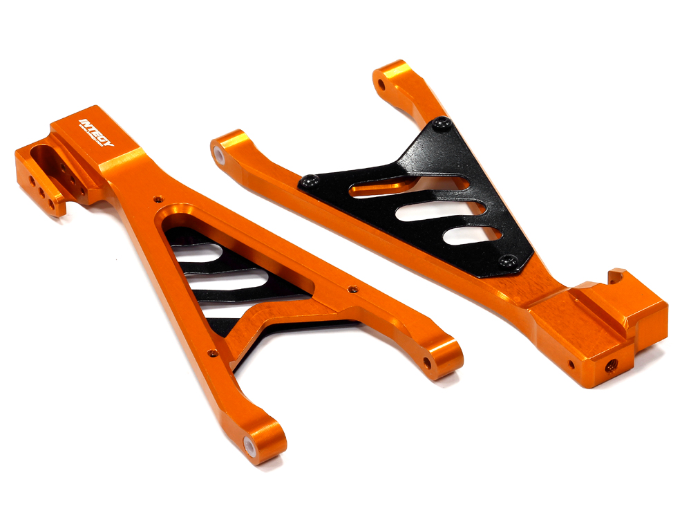 Integy RC Toy Model Hop-ups T4153ORANGE Billet Machined Type II Rear Lower Suspension Arms... by Integy