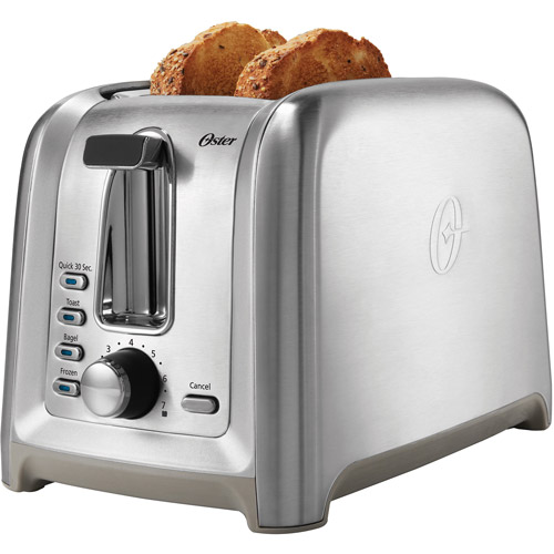 Oster Designed For Life 2-Slice Toaster, Stainless Steel, TSSTTRDFL2
