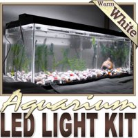 Biltek 6' ft Warm White Aquarium Saltwater White LED Strip Lighting Complete Package Kit Lamp Light DIY - Main Lighting Sub Fresh Water Salt Water Tank Water Resistant 3528 SMD Flexible DIY 220V