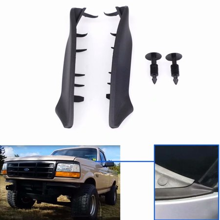 2PCS Plastic End Windshield Wiper Cowl Kit for 2004-2008 Ford F150 Lincoln Mark LT
